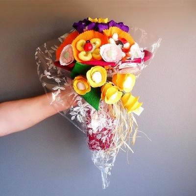 Super Ramo de flores com as mais deliciosas e coloridas gomas