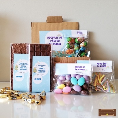 Sweet Box para Afilhado - Cabaz 72 doçuras personalizado com Nome!
