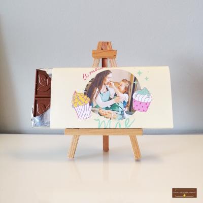 Chocolate Grande A Mais Doce Mãe - Sabor Premium Personalizado com Foto