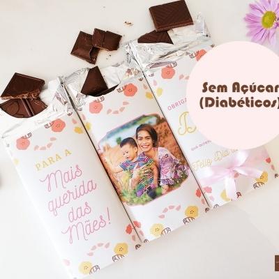Trilogia de Chocolates para o Dia da Mãe - Chocolate Sem Açúcar (Diabéticos)