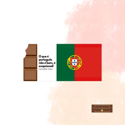 Chocolate Portugal Bandeira - Personalizável