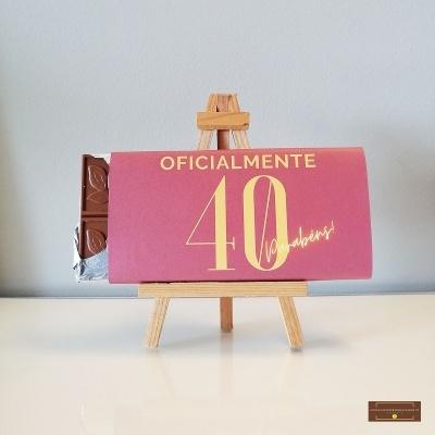 Chocolate Grande Oficialmente Parabéns - Sabor Premium Idade Personalizável