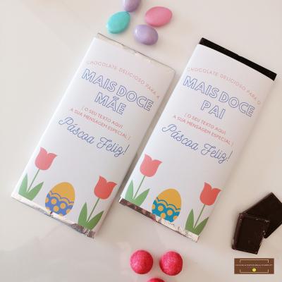 Chocolate Grande Personalizado para Pai ou Mãe Páscoa Feliz