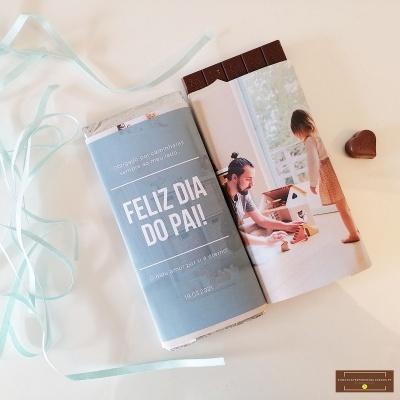 Duo de Chocolates Pais&Filhos - Personalizado com Fotografia