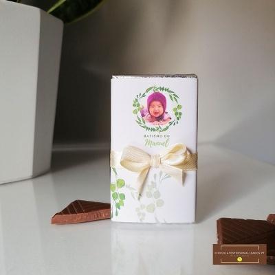 Lembranças em Mini Chocolate personalizado | Tema Verde Natureza Batismo ou Aniversário