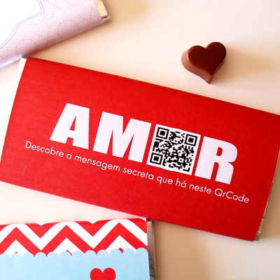 Chocolate Dia dos Namorados | QR Code com mensagem secreta...