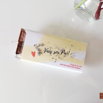 Chocolate Raspadinha para Anunciar Gravidez