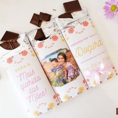 Trilogia de Chocolates para o Dia da Mãe - Personalizado com Fotografia