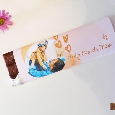 Chocolate Gigante Feliz Dia da Mãe - Personalizado com Foto