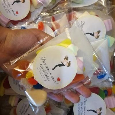Saquinhos de Gomas personalizados para Casamento