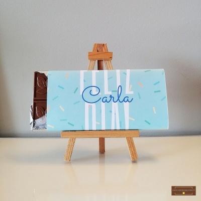 Chocolate Grande Feliz Dia - Sabor Premium com Nome Personalizável