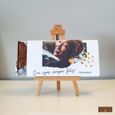 Chocolate Feliz Aniversário - Sabor Premium Personalizado com Foto