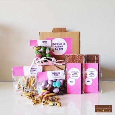 Sweet Box para Afilhada - Cabaz 72 doçuras personalizado com Nome!