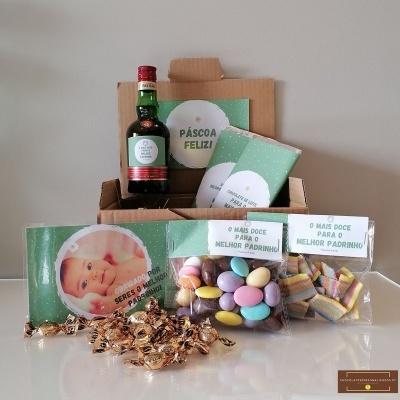 Sweet Box para Padrinho - Cabaz 58 doçuras e personalizado com Fotografia!