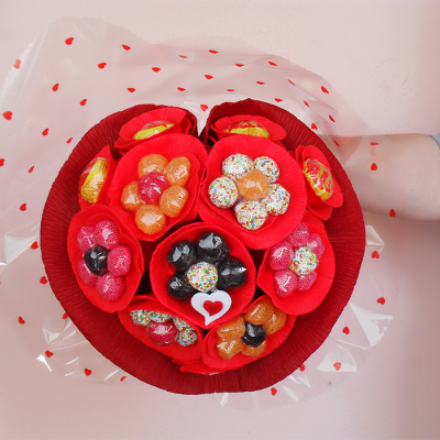 Bouquet de Gomas em forma de coração!