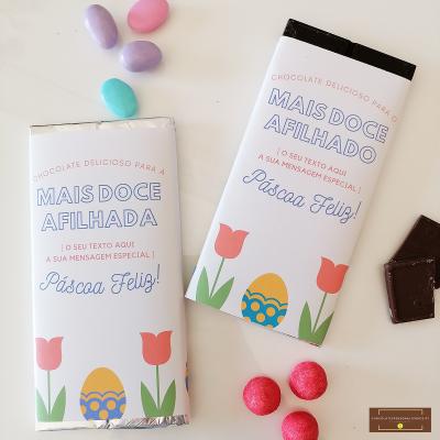Chocolate Grande Personalizado para Afilhada ou Afilhado