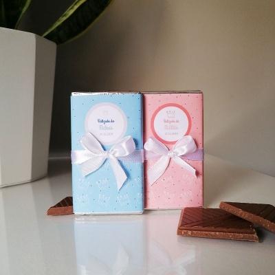 Mini Chocolates Príncipe ou Princesa para Lembrança de Batizado