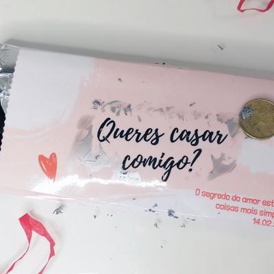 Chocolate Pedido de Casamento - Raspadinha