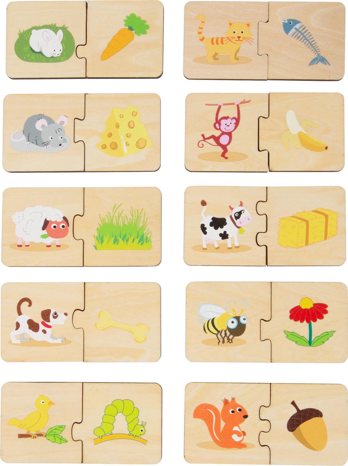 """Puzzle """"Alimentar os animais"""" - madeira"""