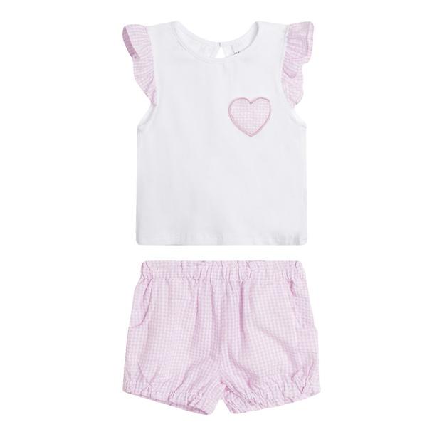 Conjunto Blusa e calções coração