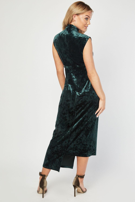 Revenda - Vestido comprido aveludado