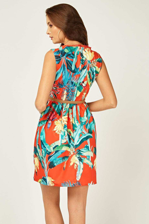 Revenda - Vestido tropical