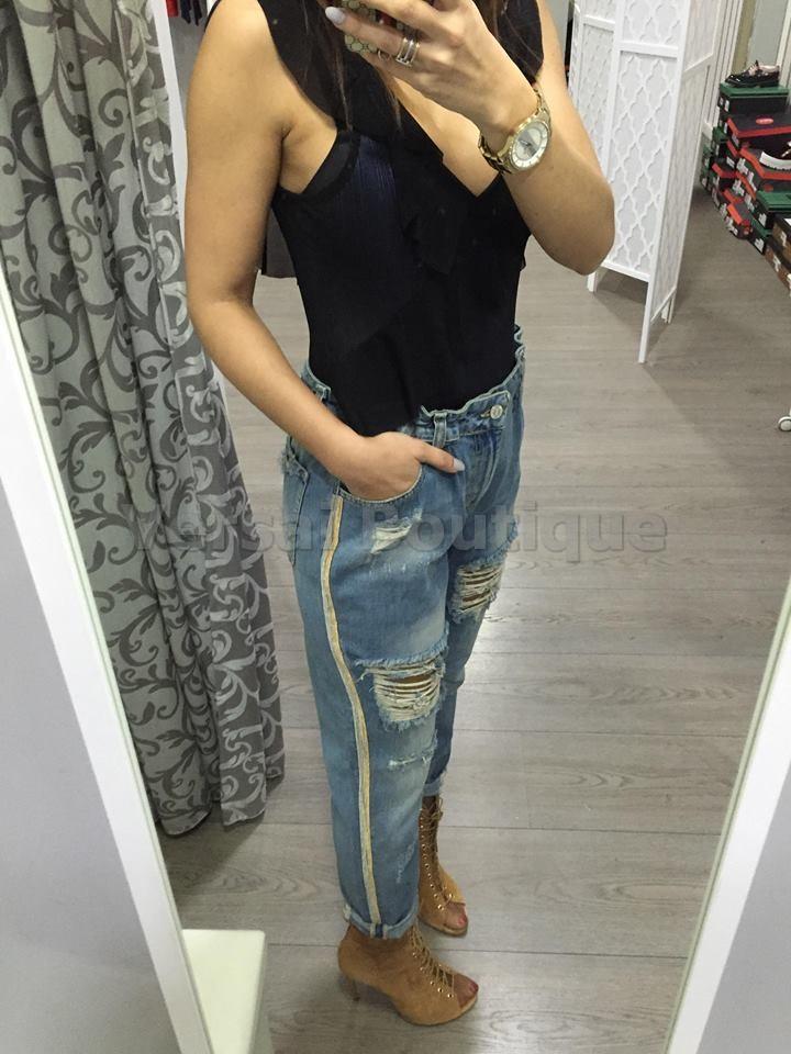 Revenda - Calças ganga com elástico na cintura TRASH & LUXURY