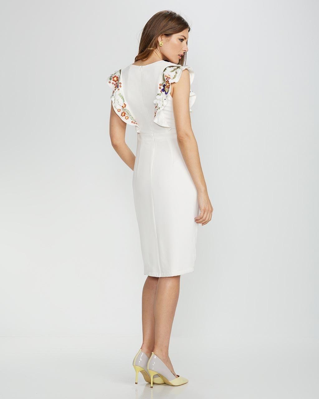 Revenda -  Vestido com bordado AXEL