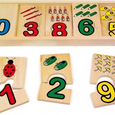 """Puzzle """"Números"""" - madeira"""