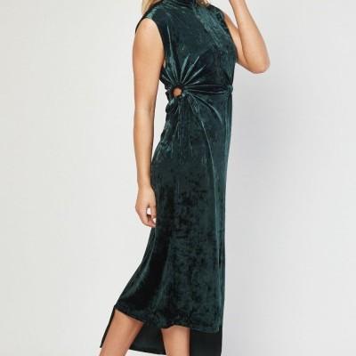 Vestido comprido aveludado