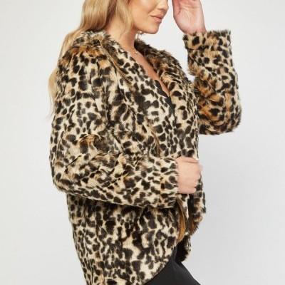 Revenda - Casaco pelo leopardo