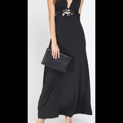 Revenda - Vestido comprido com lantejoulas