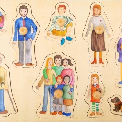 """Puzzle """"Família e Amigos"""" - madeira"""