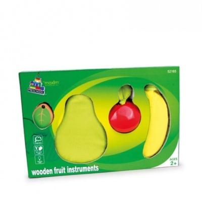 """Castanholas """"Frutas"""" em madeira - instrumento musical de percussão"""