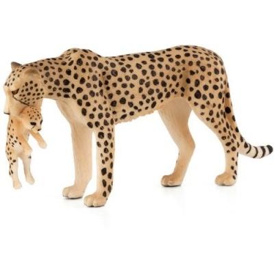 Chita Fêmea com cria (bebé) - Figura animal