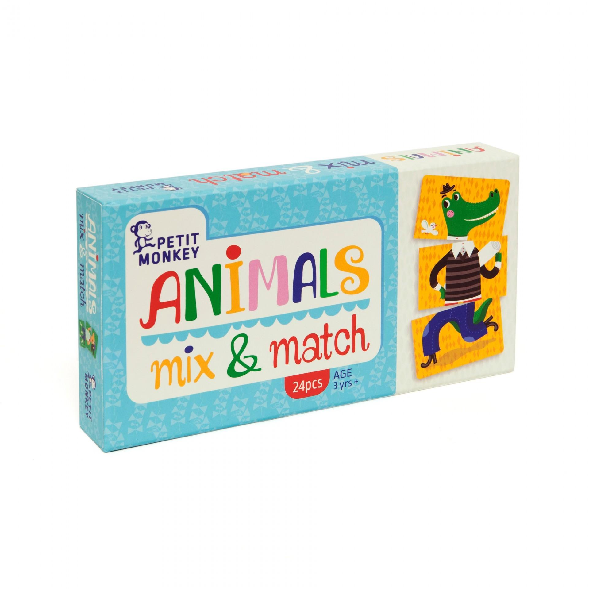 JOGO MIX & MATCH ANIMAIS