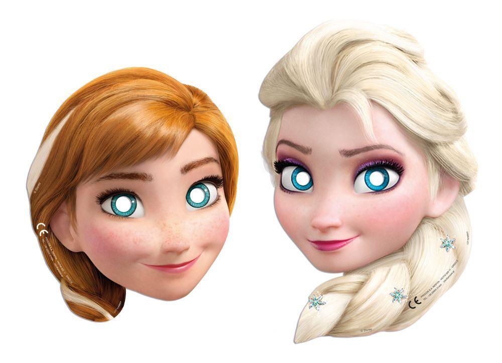 MÁSCARAS FROZEN - ELSA E ANNA