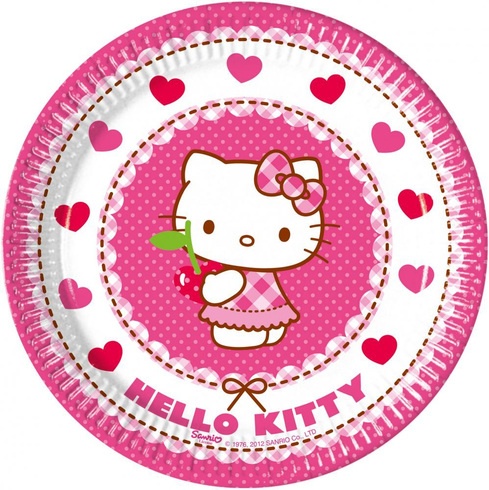 PRATOS HELLO KITTY 19,5CM