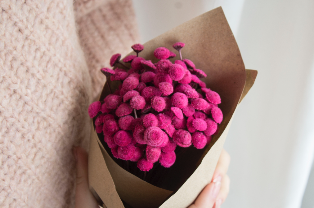 Botão cor-de-rosa