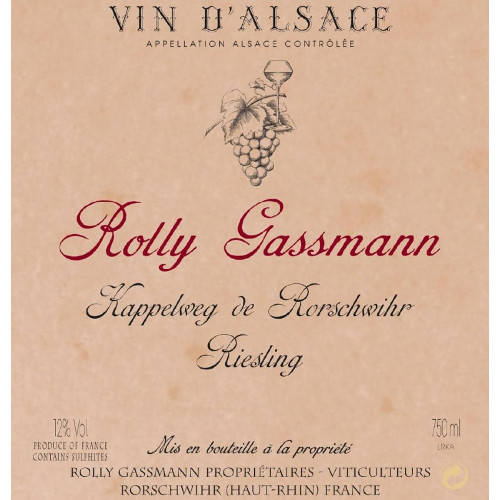 Rolly Gassman Riesling Kappelweg