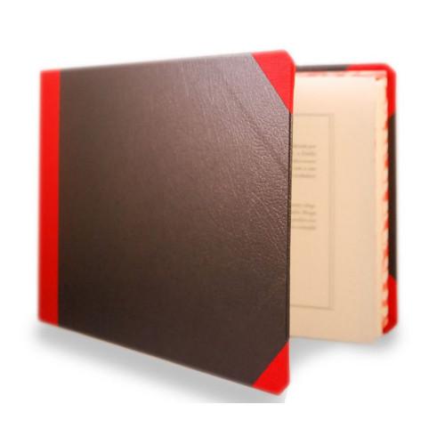 Livro de Apontamentos Vínicos A5, abertura pequena, com elástico