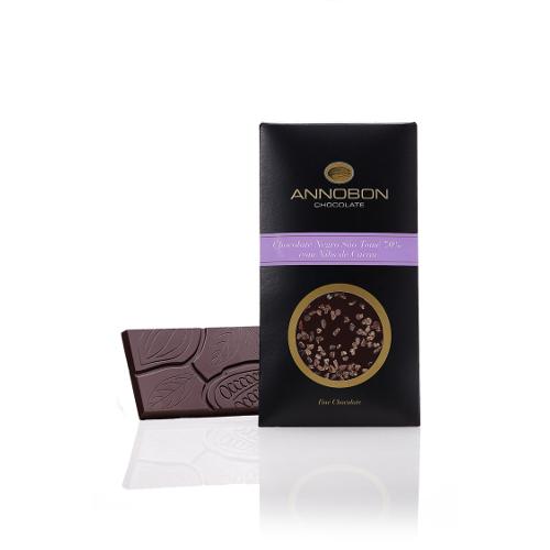 Tablete Chocolate Negro São Tomé com NIBS de Cacau - Annobom