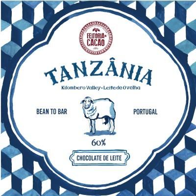 Chocolate de Leite Tanzânia Kilombero 60% + Leite de ovelha - Feitoria do Cacao
