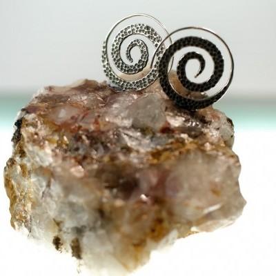Brincos Espiral Martelada