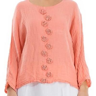 Blusa de Linho Coral