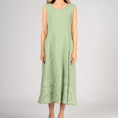 Vestido sem Mangas de Linho