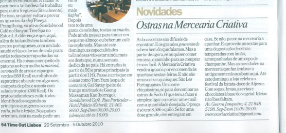 REVISTA TIME OUT · 29/09/2010