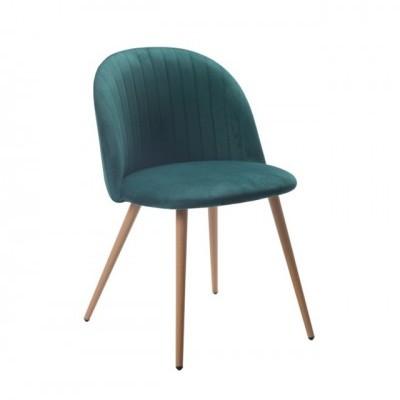 Cadeira Velvet Curve Esmeralda