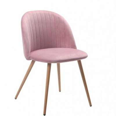 Cadeira Velvet Curve Rosa