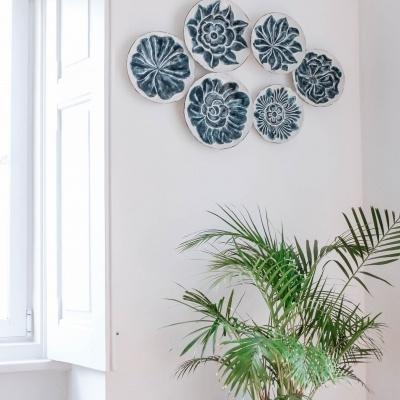 Mural de Parede Pratos Flor